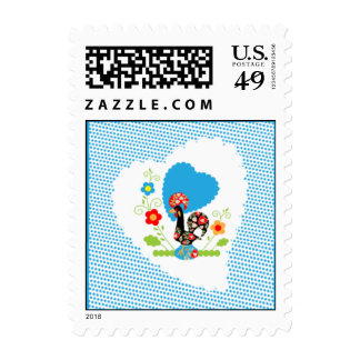 Portuguese Rooster of Luck Stamp