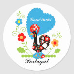 Portuguese Rooster of Luck Sticker