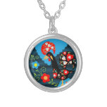 Portuguese Rooster Round Pendant Necklace