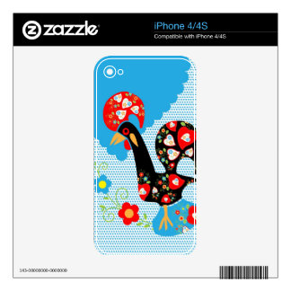 Portuguese Rooster Symbol Decals For iPhone 4