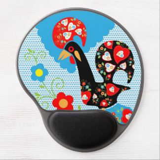 Portuguese Rooster Symbol Gel Mouse Pad