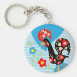 Portuguese Rooster symbol of Portugal Basic Round Button Keychain