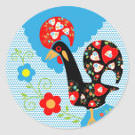 Portuguese Rooster symbol of Portugal Classic Round Sticker