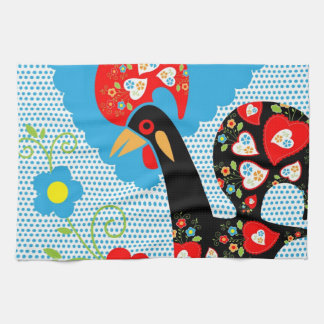 Portuguese Rooster symbol of Portugal Hand Towels