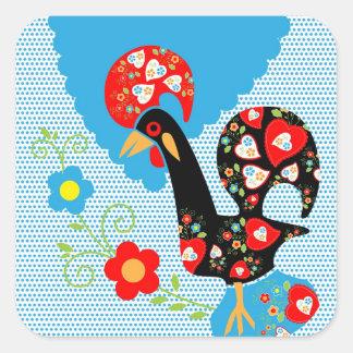 Portuguese Rooster symbol of Portugal Square Sticker