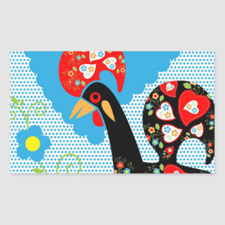 Portuguese Rooster symbol of Portugal Rectangular Sticker
