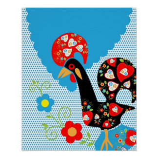 Portuguese Rooster Symbol Poster