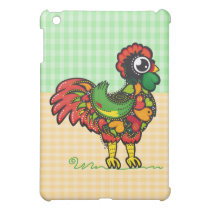 Portuguese Rooster with Squares Background iPad Mini Case