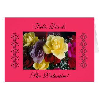 Portuguese: rosas - Valentine's day Card
