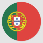 Portuguese rounded flag stickers