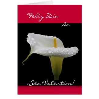 Portuguese: São Valentim Calla Lily Card