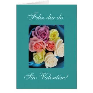 Portuguese: São Valentim -teal Card