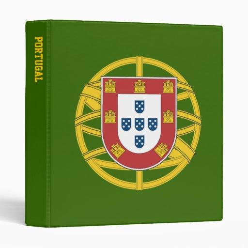 Portuguese shield 3 ring binder