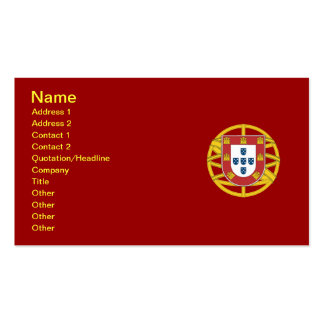 Portuguese shield Double-Sided standard business cards (Pack of 100)