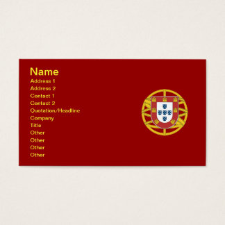 Portuguese shield business card