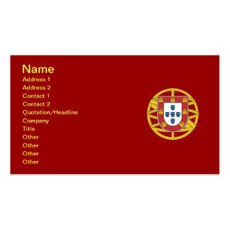 Portuguese shield business card templates