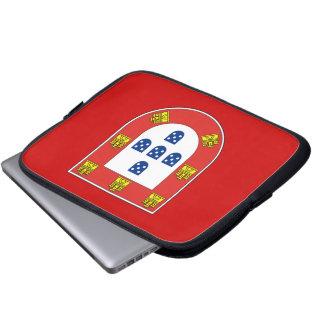 Portuguese shield laptop sleeve