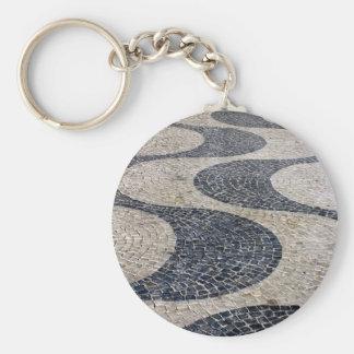 Portuguese sidewalk keychain