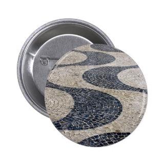 Portuguese Sidewalk, Lisbon, Portugal Pinback Button