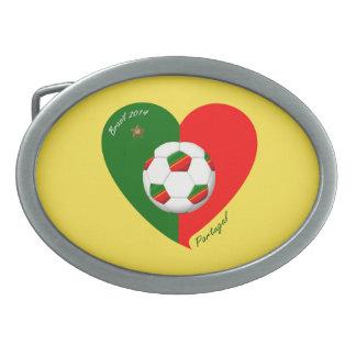 Portuguese Soccer Team Fútbol de PORTUGAL 2014 Hebilla De Cinturon
