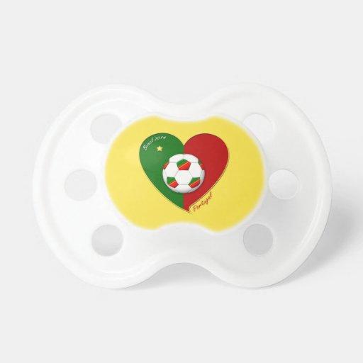 "Portuguese SOCCER Team. Fútbol de  ""PORTUGAL"" 2014 Chupete"