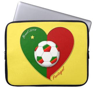 Portuguese SOCCER Team Fútbol de PORTUGAL 2014 Manga Computadora