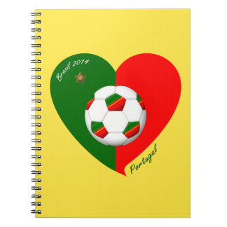 Portuguese Soccer Team Fútbol de PORTUGAL 2014 Libros De Apuntes