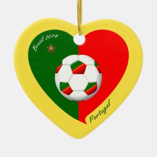Portuguese Soccer Team Fútbol de PORTUGAL 2014 Adorno De Navidad