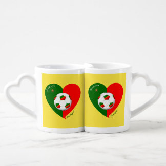 Portuguese Soccer Team Fútbol de PORTUGAL 2014 Tazas Amorosas