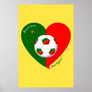 Portuguese Soccer Team Fútbol de PORTUGAL 2014 Posters