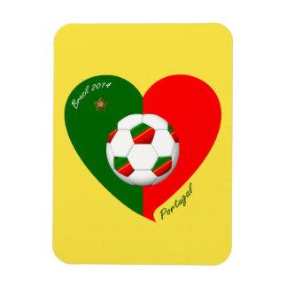 Portuguese Soccer Team Fútbol de PORTUGAL 2014 Imanes Rectangulares