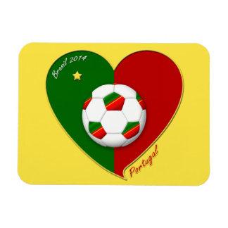 Portuguese SOCCER Team Fútbol de PORTUGAL 2014 Iman Rectangular