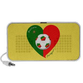 Portuguese Soccer Team Fútbol de PORTUGAL 2014 Altavoces