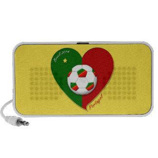 Portuguese SOCCER Team Fútbol de PORTUGAL 2014 Mini Altavoces