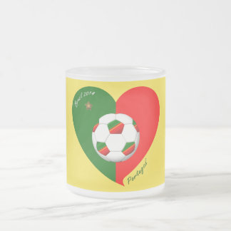 "Portuguese Soccer Team. Fútbol de ""PORTUGAL"" 2014 Taza De Café Esmerilada"
