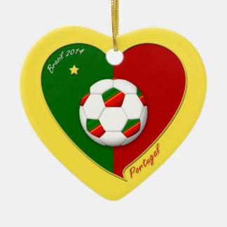 "Portuguese SOCCER Team. Soccer of ""PORTUGAL"" 2014 Ceramic Ornament"