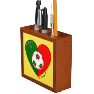 "Portuguese Soccer Team. Soccer of ""PORTUGAL"" 2014 Desk Organizers"