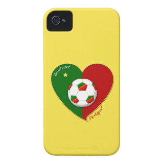 "Portuguese SOCCER Team. Soccer of ""PORTUGAL"" 2014 iPhone 4 Case-Mate Case"
