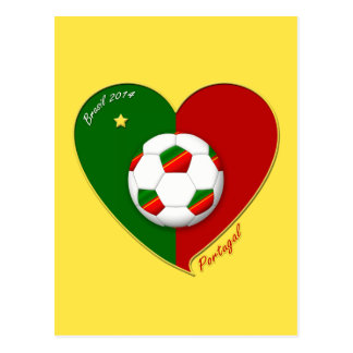 "Portuguese SOCCER Team. Soccer of ""PORTUGAL"" 2014 Postcard"