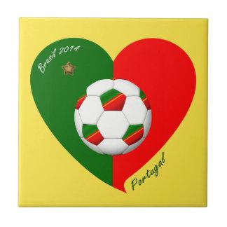 "Portuguese Soccer Team. Soccer of ""PORTUGAL"" 2014 Small Square Tile"