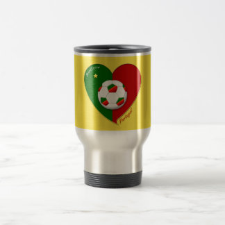 "Portuguese SOCCER Team. Soccer of ""PORTUGAL "" Travel Mug"