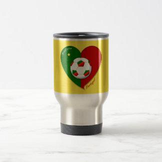 """Portuguese SOCCER Team. Soccer of """"PORTUGAL """" Travel Mug"""