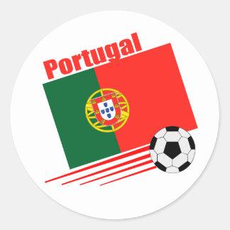 Portuguese Soccer Team Classic Round Sticker