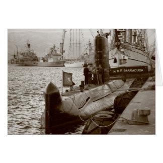 Portuguese submarine NRP Barracuda Greeting Card