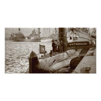 Portuguese submarine NRP Barracuda Photo Cards