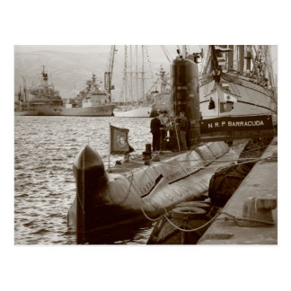 Portuguese submarine NRP Barracuda Postcard