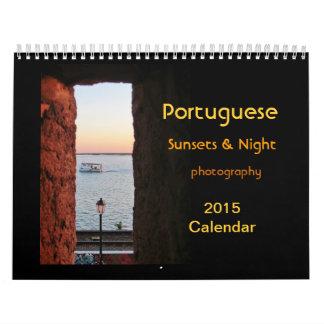 Portuguese Sunsets calendar 2015