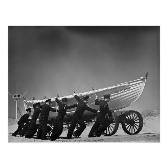 Portuguese Surf Boat Crew: 1942 Poster