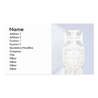 Portuguese symbology Double-Sided standard business cards (Pack of 100)