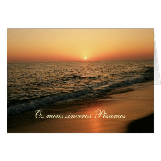Portuguese sympathy card/condolencias: Sunset Card